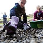 Kids digging